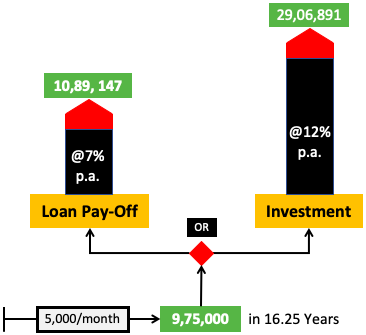 Investment vs loan prepayment