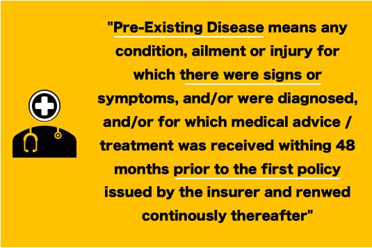 Pre-Existing Disease - definition