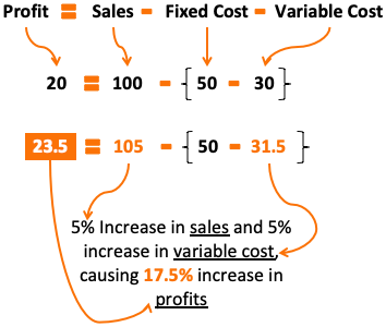 Leverage Effect - Example1 - Profit Growth 17.5%