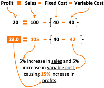 Leverage Effect - Example13- Profit Growth 15%
