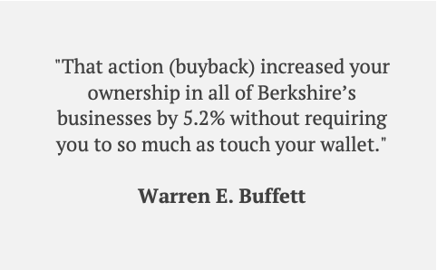Berkshire Hathaway - Buffett Quote