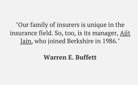 Buffett mentions Ajit Jain