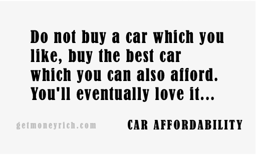 Car Affordability - Proverb