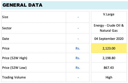 Comparison Parameters 1 - General Data