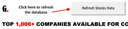 Refresh Stocks Data - button