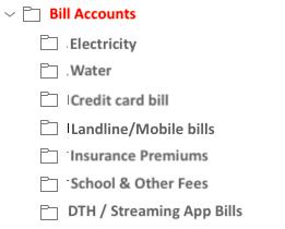 Organizing Finances - Email folders