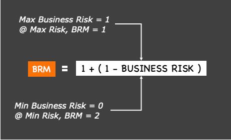 BUSINESS RISK MULTIPLIER FORMULA