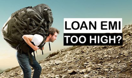 What to do when loan EMI is very high -image
