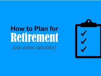 Retirement Planning using Online Calculator - IMAGE