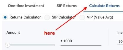 mutual fund return calculator
