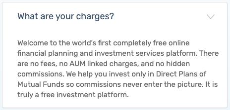 Kuvera - FAQ Pricing Free No charges